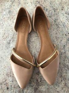 Aldo leather nude shoes