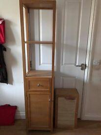 Wooden 4 piece bathroom cabinets