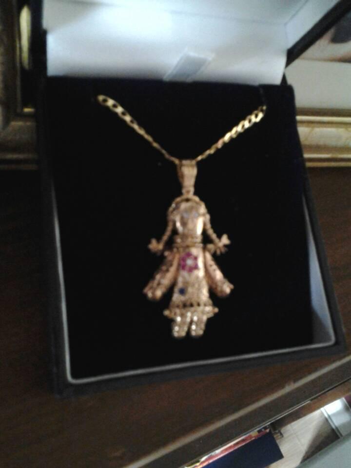 9ct gold rag doll on 24 chain in bognor regis west sussex 9ct gold rag doll on 24 chain mozeypictures Images
