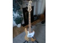 Swamp ash and maple SX Jazz Bass
