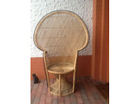 Medium-sized Peacock cane chair (mint condition)