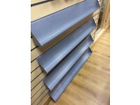 4x 120cm Metal Slatwall Shelves