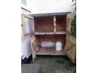 Sturdy Handmade Rabbit or Guinea Pig Hutch with Large Storage Space