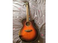 Yamaha CPX 500OVS electro acoustic guitar with gig bag