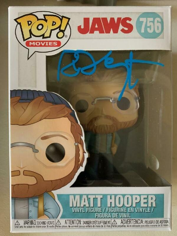 RICHARD DREYFUSS Signed MATT HOPPER FUNKO POP! JAWS MOVIE BAS COA AUTOGRAPHED