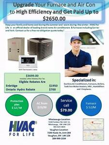 Carrier / Bryant Gas Furnace & AC $ 3699 After Rebate
