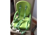 Baby high chair which fixes onto chair (with tray and harness )
