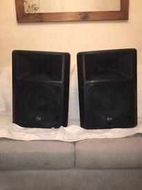 EV SX-200 Speakers: 300 Watt - 8 Ohm. In Perfect Working Order (Incl Speaker Poles)