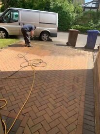 Jet washing patios and driveway services