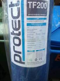2 rolls of Protect tf200 breather membrane and polythene
