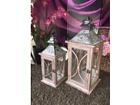 New Set Of 2 Large Lanterns with Opening Doors