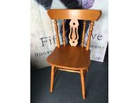 New Littlewoods Yorkshire Fiddleback Dining Bedroom Occasion Chair £30