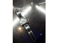Gents automatic watch,with glass back to see movement,leather strap,perfect time keeper,loc delivery