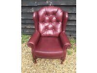 Good quality leather armchair