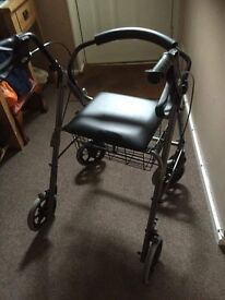 Mobility rollator trolley with tray and seat brand new m