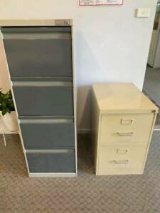 Two-drawer and four-drawer filing cabinets
