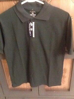 Charter School Uniform Dark Green Polo Short Sleeve Shirt Sz Large 14 16 New