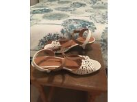 Cream and Tan Sandals