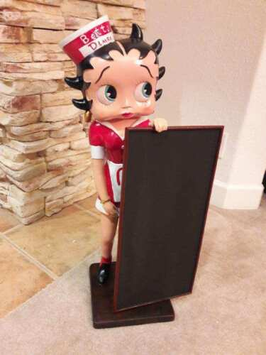 "Betty Boop  Diner with Blackboard Menu Statue Figurine Sculpture 29"" H. NEW"