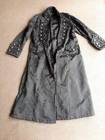 Goth vampire dark art black frock coat
