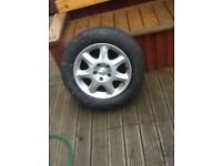 """Mercedes 17"""" alloys and tyres"""