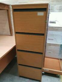 Wooden modern 4 drawer filing cabinet