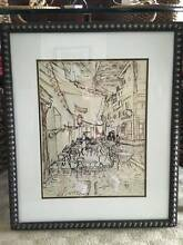 Vincent Van Gogh Study of the Cafe Terrace at Night custom framed Guildford Swan Area Preview