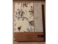 Joules Imogen Double Duvet Cover. 100% Cotton White Grey Yellow. Floral. BRAND NEW