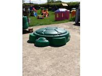 Little Tikes Turtle Sand Pit with lid brand new
