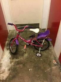 """Girls 14"""" bike"""