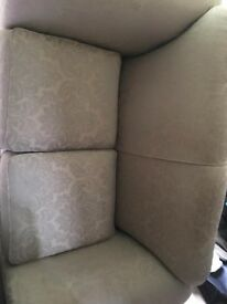 2 x 2 Seater Sofas and matching footstool