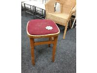 Vintage wooden stool Copley Mill Low Cost Moves 2nd Hand Furniture STALYBRIDGE SK15 3DN