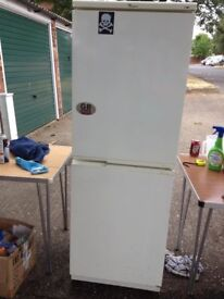 fridge freezer w-pool 5ft 8 inches approx . runs lovely and quiet ,