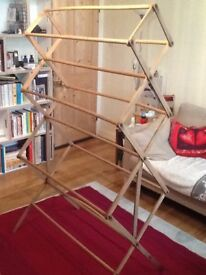 Genuine wooden clothes airer / horse, retro