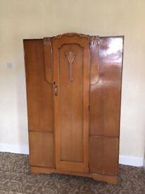 Vintage Retro Oak Wardrobe Great Condition