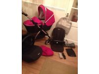 * Silver Cross Wayfarer full travel system in Raspberry *