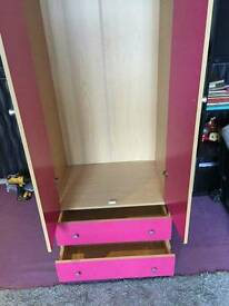 Girls large pink wardrobe