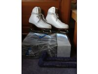 Girls white ice skates