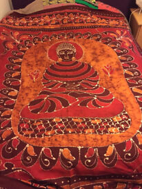Gorgeous Handmade Bali bed / wall cover