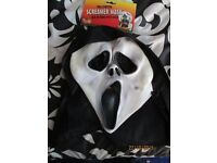SCREAM MASK GREAT FOR PARTY OR STAG DO ALSO HAVE THE ROBE FOR SALE