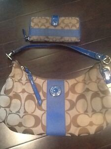 Matching Authentic Coach Purse signature pattern and wallet