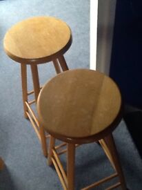 Pine coloured stools