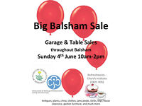 Table Top and Garage Sale - The Big Balsham Sale, stalls throughout the village
