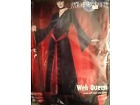 GOTHIC WEB QUEEN VELVET FANCY DRESS OUTFIT SIZE 8/10 PARTY OR HEN DO MATCHING MANS OUTFIT FOR SALE