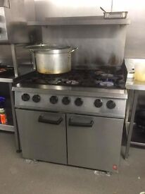 2 x Falcon Dominator with Stand, 6 Burner, Gas Supply, Oven Range, Used and Working