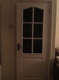 Hardwood white internal door