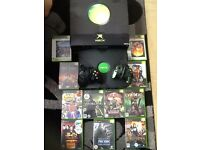 Xbox with games