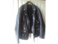 All Saints Spitalfields Men's Leather Biker Jacket (r.r.p £398)