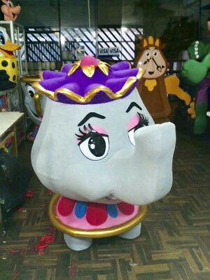 Teapot Mrs. Potts Beauty And The Beast Mascot Costume Party Character Birthday (Mrs Potts Costume)