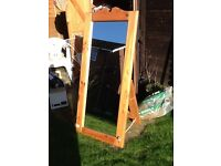 Large pine free standing A frame mirror